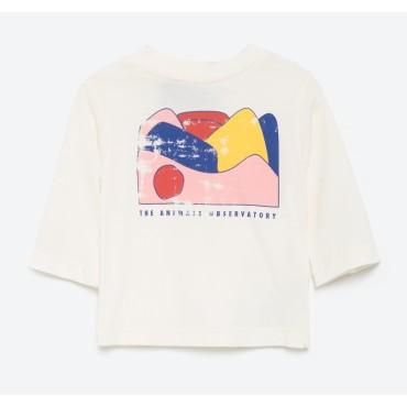 T-shirt bébé Octopus - Raw White Landscape