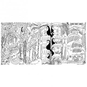 Affiches cadres stickers perlin paon paon - Papier peint a colorier ...