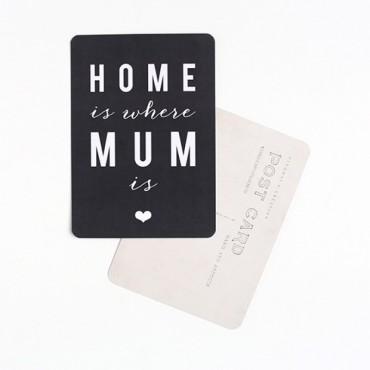 Carte Home Is Where Mum Is - Ardoise