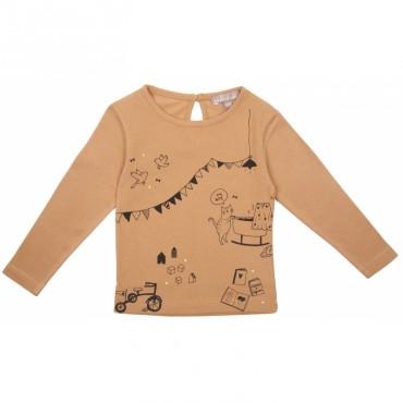 Tee-shirt bébé Scenette - Caramel