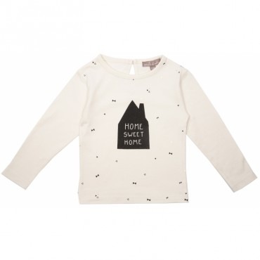 Tee-shirt bébé Sweet Home - Ecru