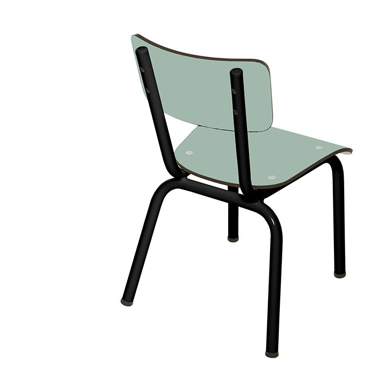 chaise enfant little suzie menthe pieds noirs les gambettes perlin paon paon. Black Bedroom Furniture Sets. Home Design Ideas