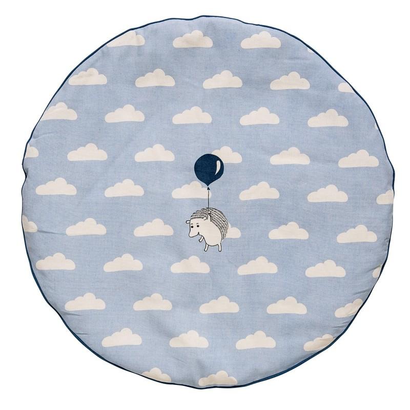 tapis de jeux rond nuages bleu bloomingville perlin. Black Bedroom Furniture Sets. Home Design Ideas