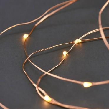 Guirlande lumineuse décorative - Cuivre