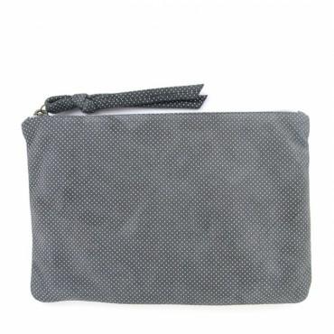 Pochette zippée - Plumetis Brume