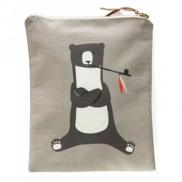 Pochette zippée - Smoking Bear