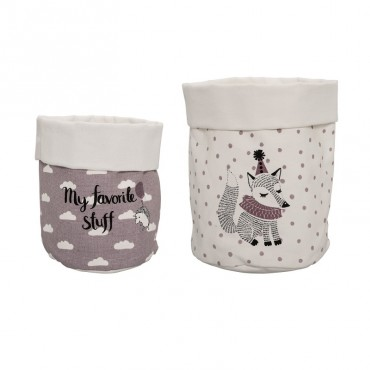 Set de 2 paniers de rangement - Purple