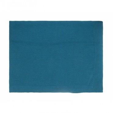 Couverture Bou - Bleu pétrole