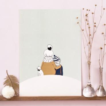 Affiche Sous la neige (garçon)