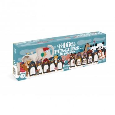 Puzzle 10 Pingouins (100 pièces)