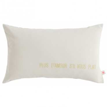 Coussin Lina - Amour (craie)