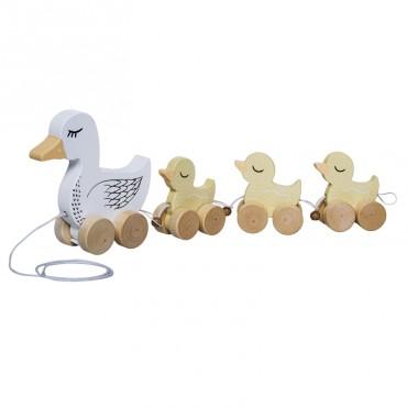 Jouet à tirer - Famille canard