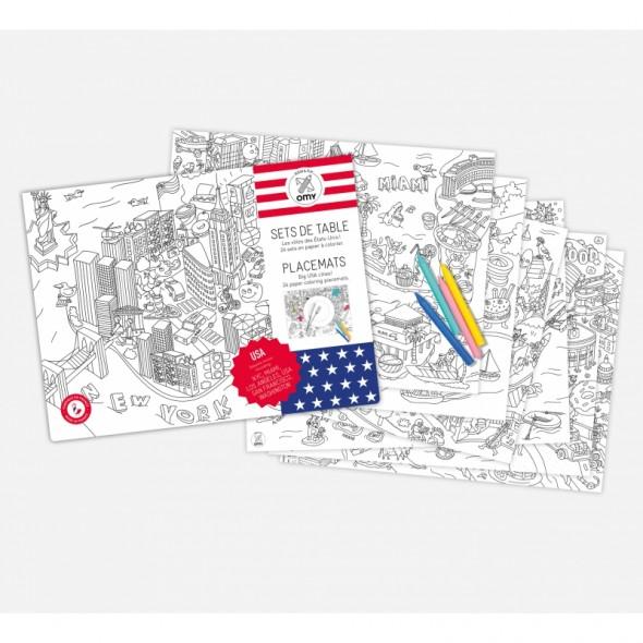 Set de table à colorier - USA
