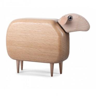 Mouton en bois (tête droite) - Naturel (GM)