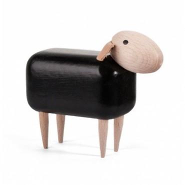 Mouton en bois (tête droite) - Noir (PM)