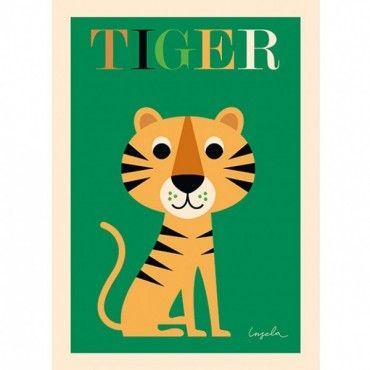Poster Tigre par Ingela P. Arrhenius
