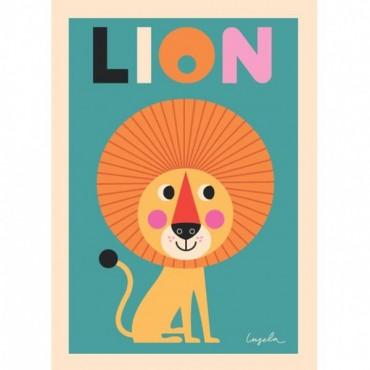 Poster Lion par Ingela P. Arrhenius