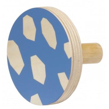 Patère en bois - Blue (9 cm)