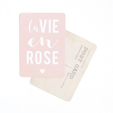 Carte La Vie en rose