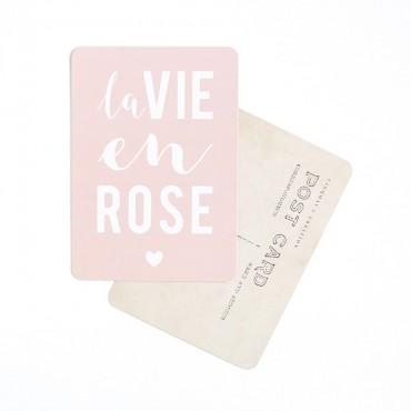 Carte La Vie en rose