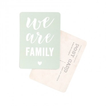 Carte We Are Family - Smoke green