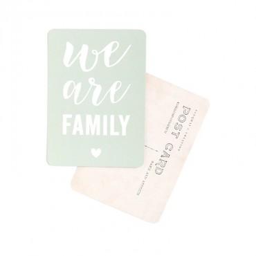 Carte We Are Family - Smoke green