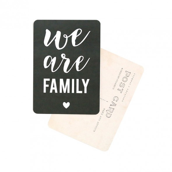 Carte We Are Family - Ardoise