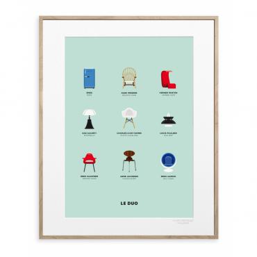Affiche Le Duo - Design