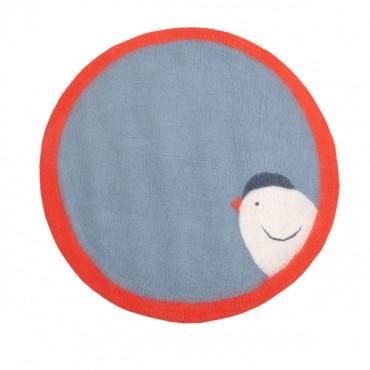 Tapis feutre Pasu - Birdy / Bleu minéral