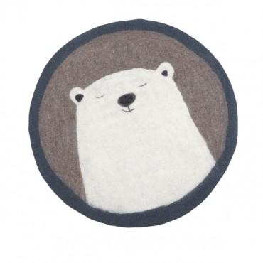 Tapis feutre Pasu - Grizzly / Pierre