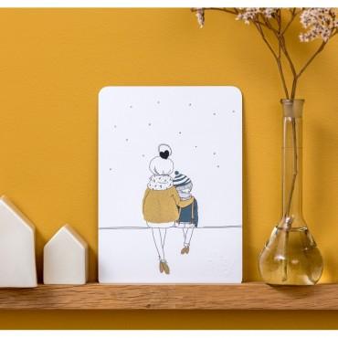Carte postale Love Mum and Boy (winter)