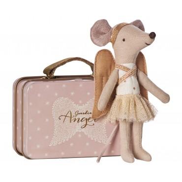 Ange gardien Souris avec sa petite valise