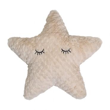 Coussin étoile - Blanc cassé