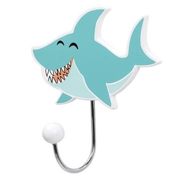Patère en bois - Requin