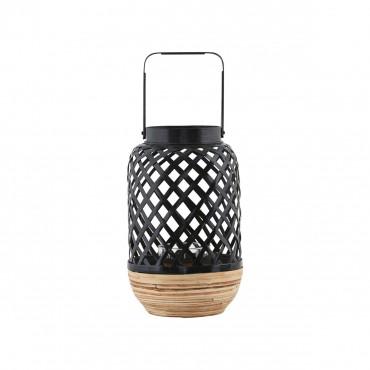 Lanterne bambou - Noir et naturel (Petit modèle)
