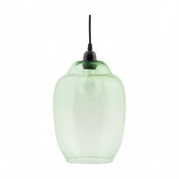Abat-jour cloche en verre - Vert transparent