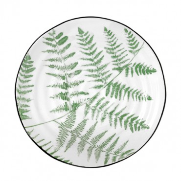 Assiette en porcelaine Jungle - Ferns