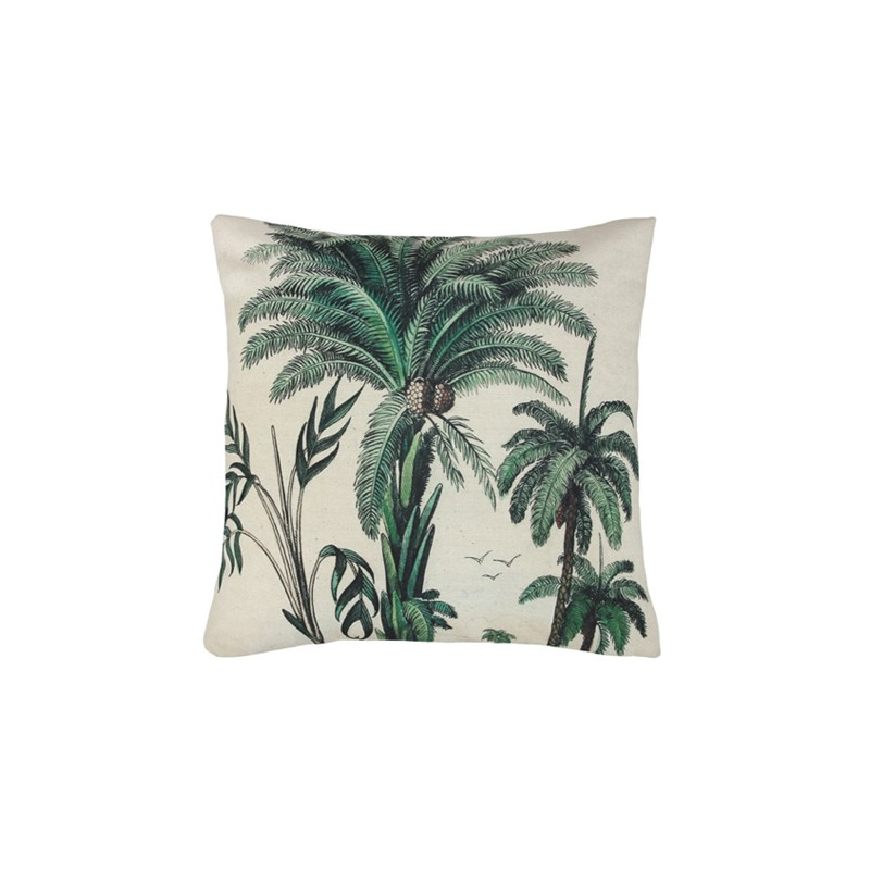 coussin imprim palm trees hk living perlin paon paon. Black Bedroom Furniture Sets. Home Design Ideas
