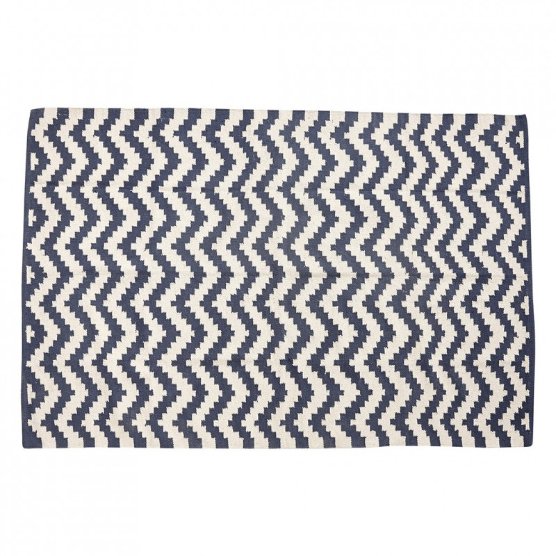 tapis graphique zigzag bleu blanc h bsch perlin. Black Bedroom Furniture Sets. Home Design Ideas
