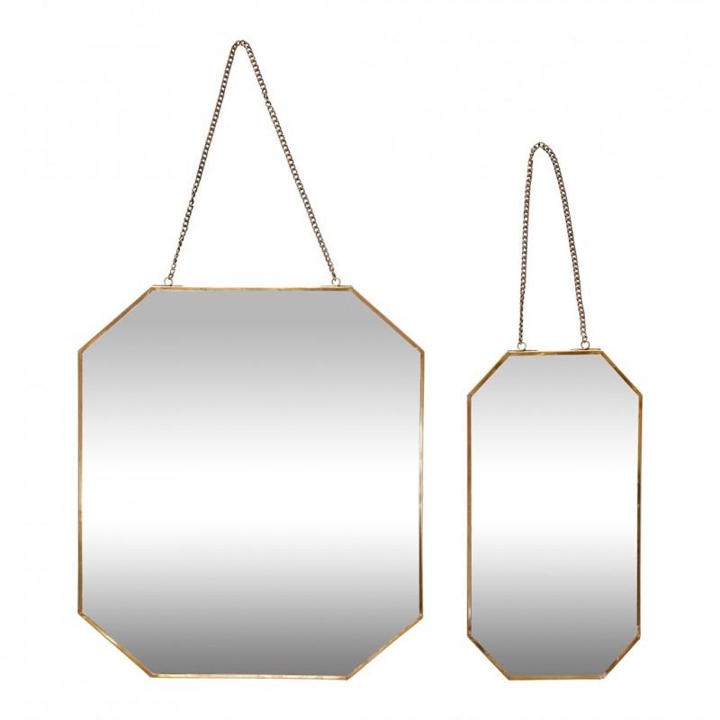 Miroir octogonal avec chaine laiton h bsch perlin for Miroir octogonal