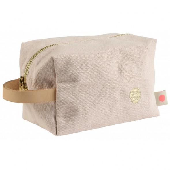 Trousse de toilette cube iona - Biscuit