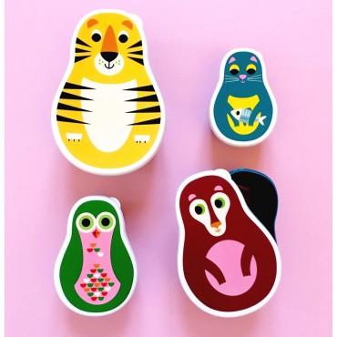 Set de Lunch box animaux - Matriochka