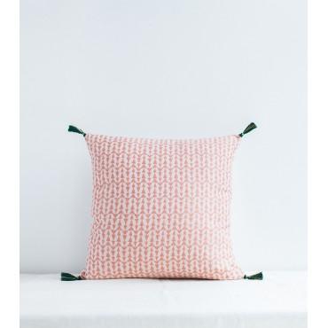 Housse de coussin Ashu 40 x 40 cm - Rose