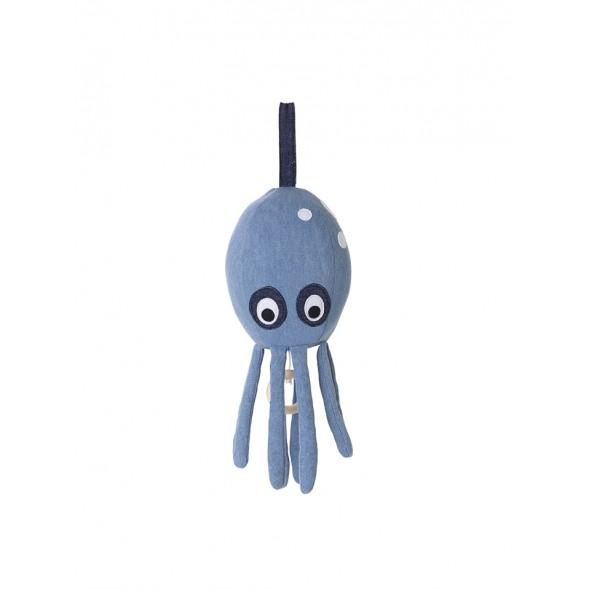 Mobile Musical Octopus - Denim