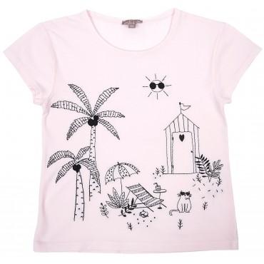 T-shirt Jardin - Rose pâle