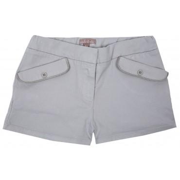 Short poches plaquées - Galet