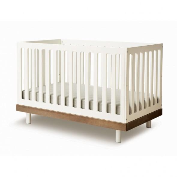 Lit bébé évolutif Classic - Noyer