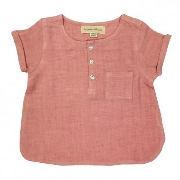 Blouse bébé manches courtes - Rose blush