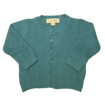 Gilet tricot bébé - Bleu