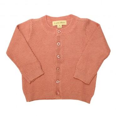 Gilet tricot bébé - Rose